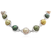 Diamond and Pearl 18k White Gold Necklace