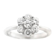 Diamond 18k White Gold Ring