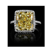 Christopher Designs Diamond Platinum and 18k Yellow Gold Halo Engagement Ring Setting