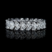 Diamond 18k White Gold Heart Eternity Wedding Band Ring