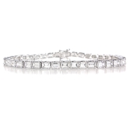 Diamond 18k White Gold Tennis Bracelet