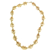 Diamond and Pearl 18k Yellow Gold Necklace