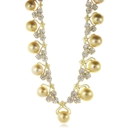 Diamond & Pearl 18k Yellow Gold Necklace