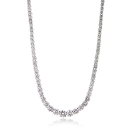 Diamond 18k White Gold Graduated Riviera(Tennis) Necklace