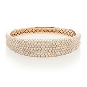 Diamond 18k Rose Gold Bangle Bracelet