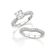 Natalie K Diamond Platinum Engagement Ring Mounting
