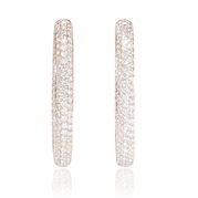 Diamond 18k Rose Gold Hoop Earrings