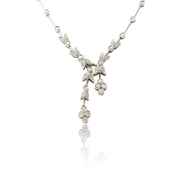 Diamond Antique Style 18k White Gold Necklace