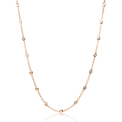Diamond Chain 18k Pink Gold Necklace