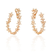 Diamond 18k Rose Gold Earrings