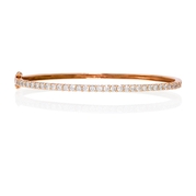 Diamond 14k Pink Gold Bangle Bracelet
