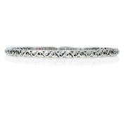 Charles Krypell Sterling Silver I Love You 365 Days A Year Bangle Bracelet