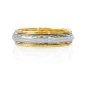 Men's Platinum 18k Yellow Gold Wedding Band Ring