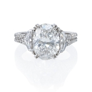 GIA Certified Diamond Antique Style Platinum Engagement Ring