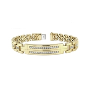Men's Diamond 14k Yellow Gold Bracelet