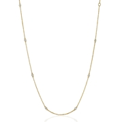 Diamond Chain 14k Yellow Gold Necklace