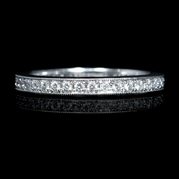 Diamond Antique Style Platinum Eternity Wedding Band Ring