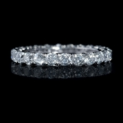 Diamond 1.69 Carats Round Brilliant Cut Platinum Eternity Wedding Band Ring