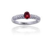 Leo Pizzo Diamond & Ruby 18k White Gold Ring