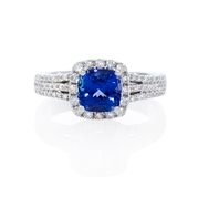 Diamond and Tanzanite 14k White Gold Ring