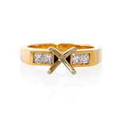 Diamond 18k Yellow Gold Engagement Ring Setting