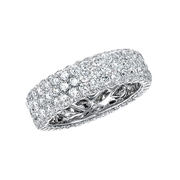 Natalie K Diamond 14k White Gold Eternity Wedding Band Ring