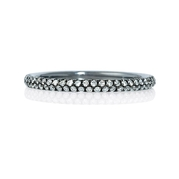 Diamond 18k White Gold and Black Rhodium Ring