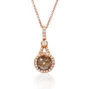 Le Vian Chocolate Diamond 14k Strawberry Gold Pendant Necklace