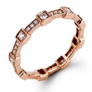 Simon G Diamond Antique Style 18k Rose Gold Eternity Ring