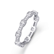 Simon G Diamond Antique Style 18k White Gold Eternity Ring