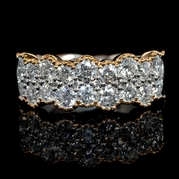 Diamond Antique Style 18k Two Tone Gold Ring