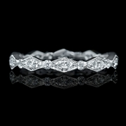 Diamond Antique Style 18k White Gold Eternity Ring