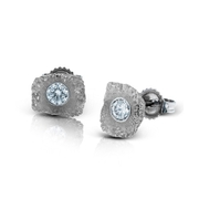 Simon G Diamond 18k White Gold Earrings