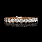 Diamond 18k Rose Gold Eternity Ring