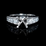 Diamond Platinum Channel Set Engagement Ring Setting