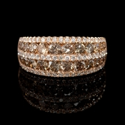 Diamond 18k Rose Gold Ring