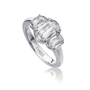 L'Amour Crisscut collection Renee Diamond 18k White Gold Enagagement Ring Setting