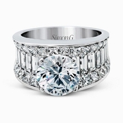 Simon G Diamond 18k White Gold Engagement Ring