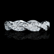 Diamond 18k White Gold Eternity Style Wedding Band Ring