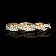 Diamond 18k Yellow Gold Eternity Ring