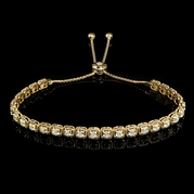 Diamond 14k Yellow Gold Tie Bracelet