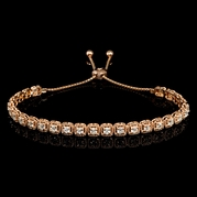 Diamond 14k Rose Gold Tie Bracelet