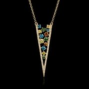 Diamond 14k Yellow Gold Pendant Necklace