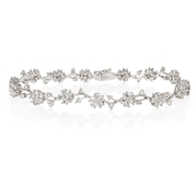 Diamond 18k White Gold Floral Bracelet
