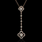 Diamond 18k Rose Gold Pendant Necklace