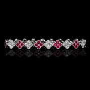 Diamond and Ruby 18k White Gold Bracelet