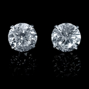 Diamond 2.04 Carats 18k White Gold Stud Earrings
