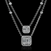 Diamond 18k White Gold Dangle Necklace