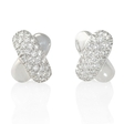 1.05ct Diamond 18k White Gold Earrings