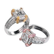 Charles Krypell Diamond Antique Style Platinum & 18k Two Tone Gold Engagement Ring Settings